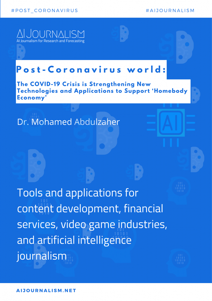 The COVID-19 Crisis Is Strengthening New Technologies and Applications to Support 'Homebody Economy'